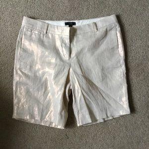 Pants - NWT jcrew gold/cream shorts.